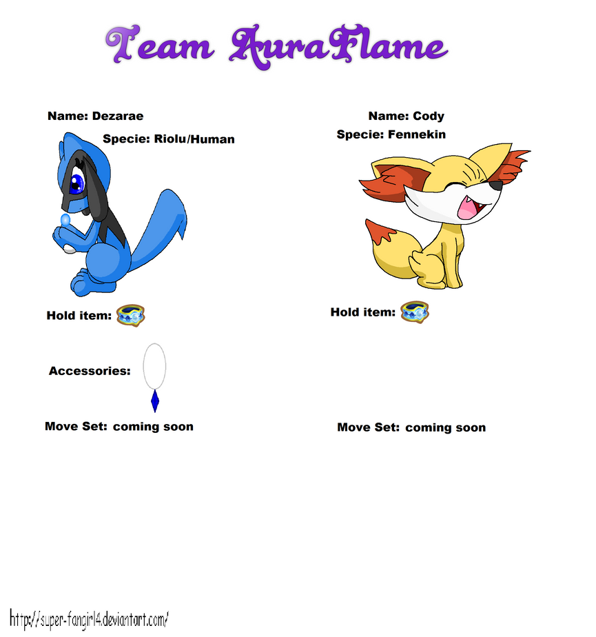Pokemon super mystery dungeon sheet by BluethornWolf