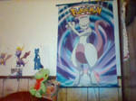 Scroll poster and plushie
