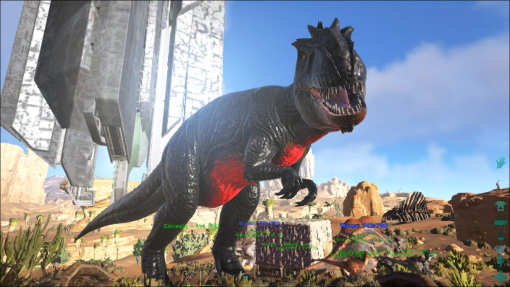 Genesis the Giganotosaurus by BluethornWolf