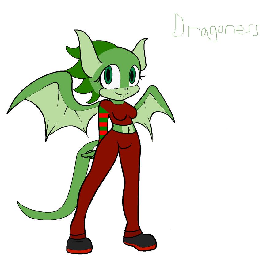 Dragon female adoption (christmas edition close) by BluethornWolf