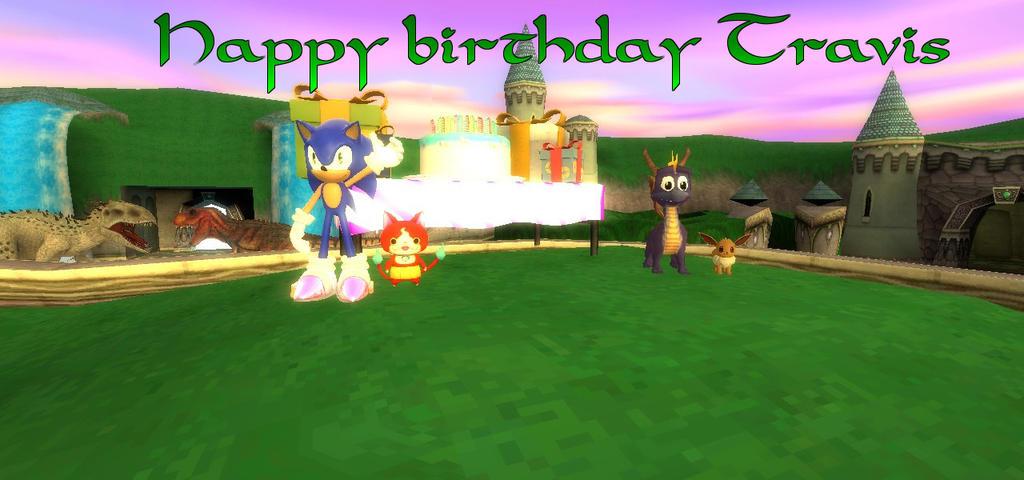 Happy Birthday Travis (late gift) by BluethornWolf