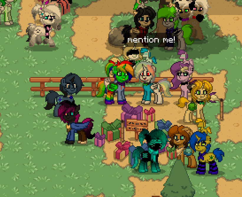 Pony town finding : White rainbow YT: by BluethornWolf