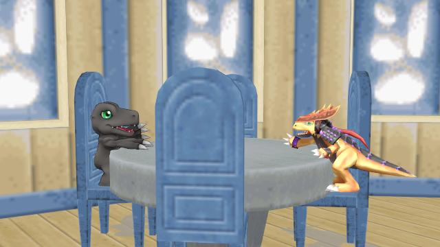 Malefor and Ryoko talking by BluethornWolf