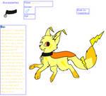 Lightining Kepukitsune  :new mascot: by BluethornWolf