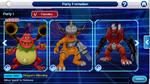My Team So Far On Digimon Linkz by BluethornWolf