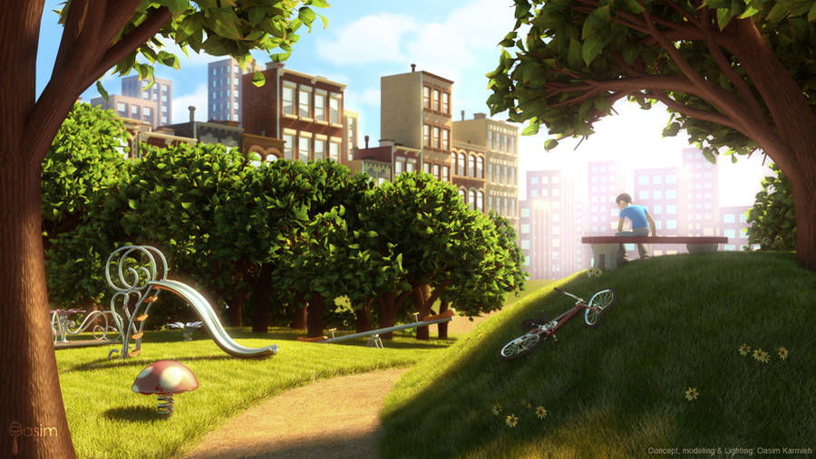 Lonely Playground by pixelbudah