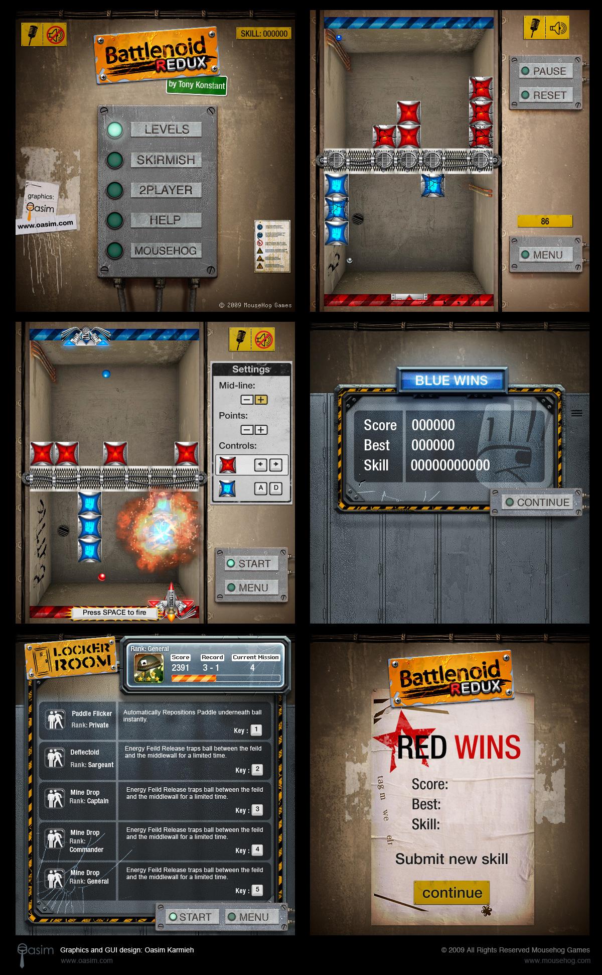 Battlenoid GUI