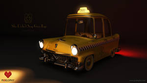 Vickylane Taxi Wallpaper by pixelbudah