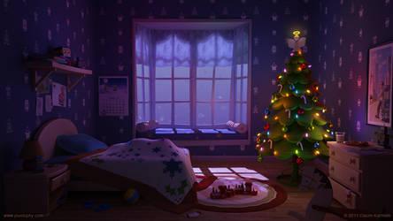 Waiting for Santa by pixelbudah