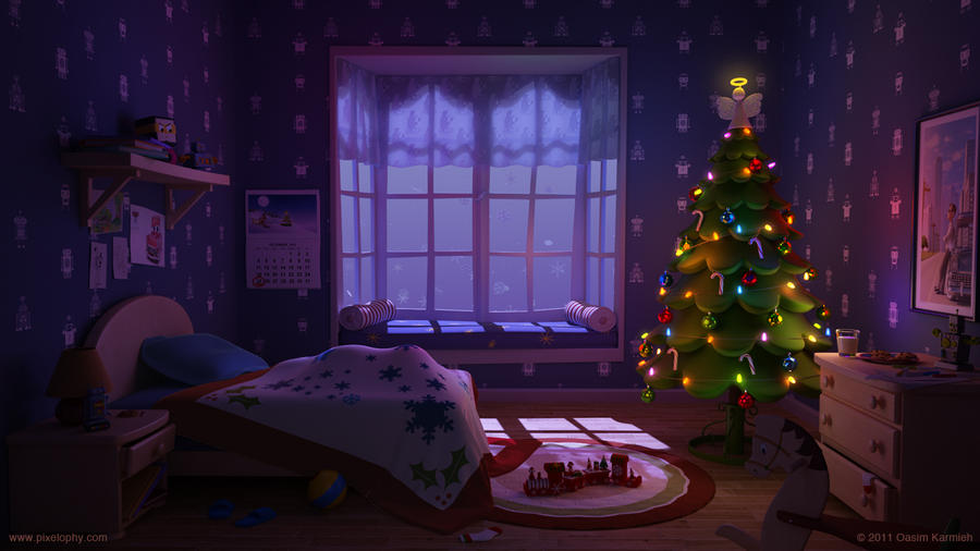 Waiting for Santa by pixelbudah