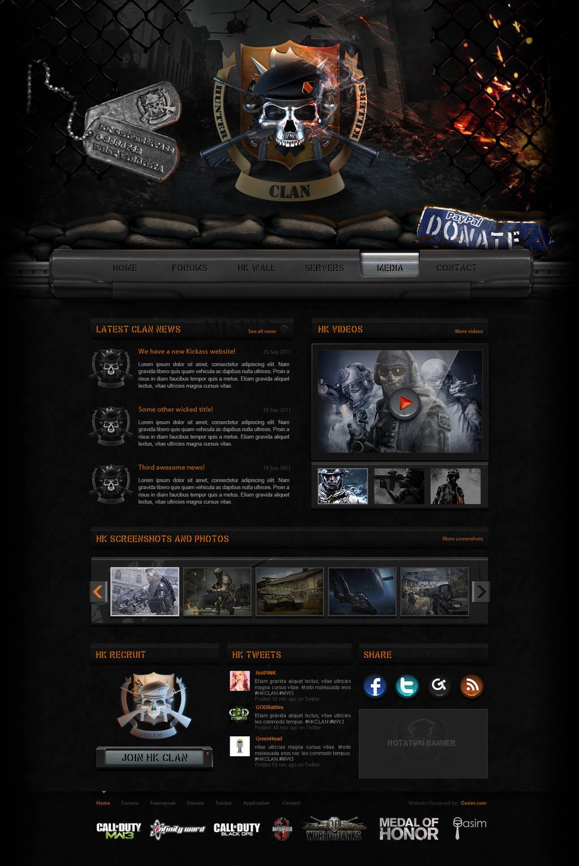 Hunter Killers Website by pixelbudah
