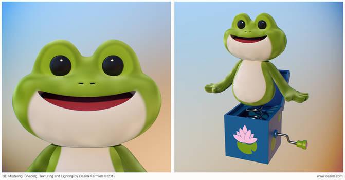 Frog 3D Cartoony Character