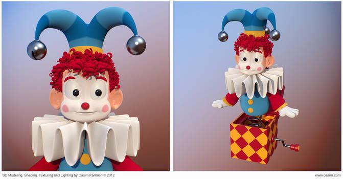 Jester 3D cartoony character