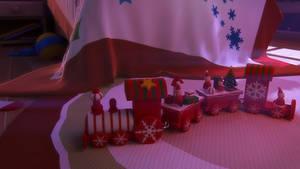 Free 3d model Wooden christmas train