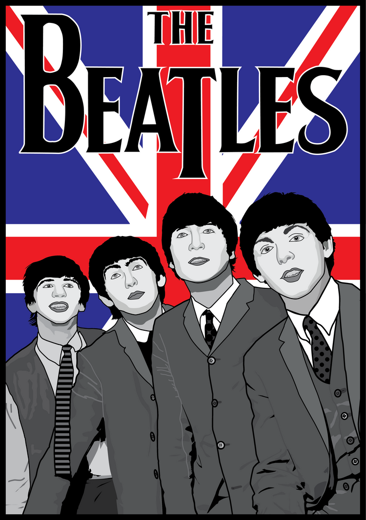 The Beatles British Poster by MD3-Designs on DeviantArt