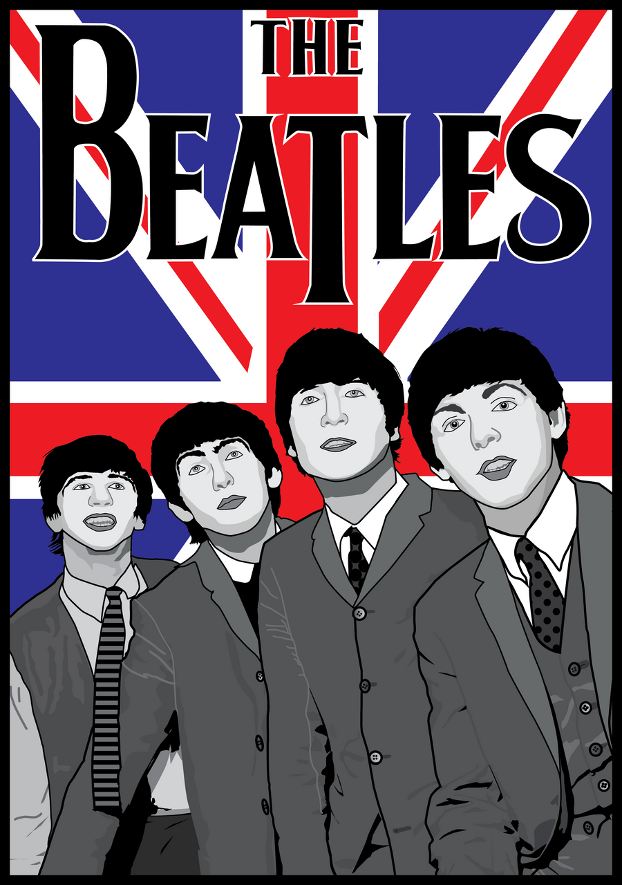 The Beatles British Poster By MD3 Designs