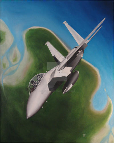 F-15 Over Delta by Ego-Trap-graphics