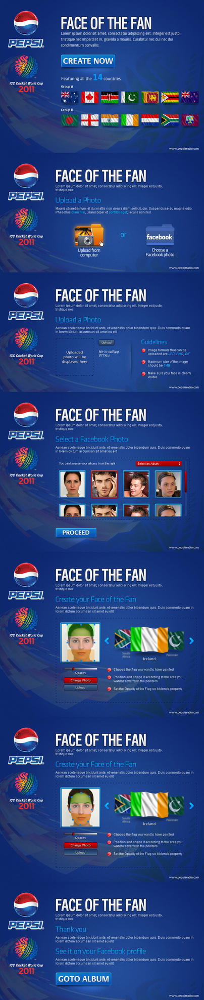 Pepsi Face of the Fan FB App by da8esix