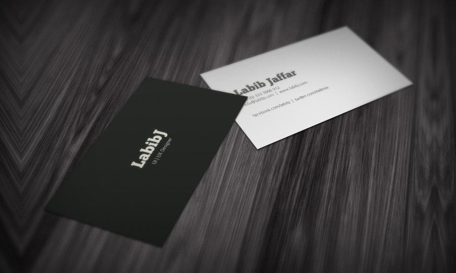 LabibJ Business Card Mock by da8esix