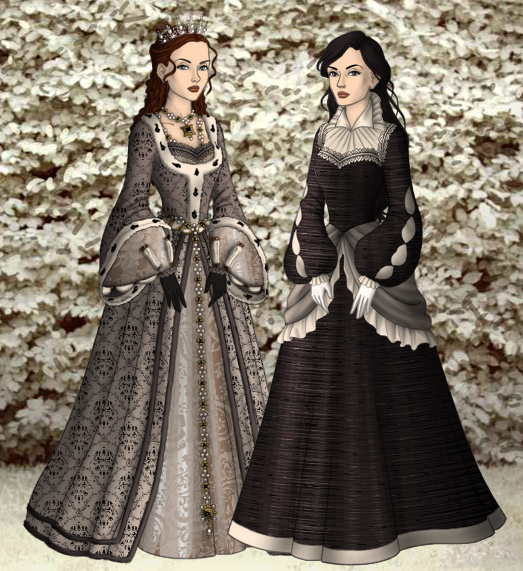 Sansa and Arya by SingerofIceandFire