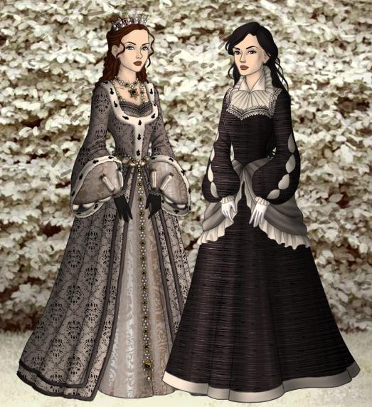 Sansa and Arya by SingerofIceandFire