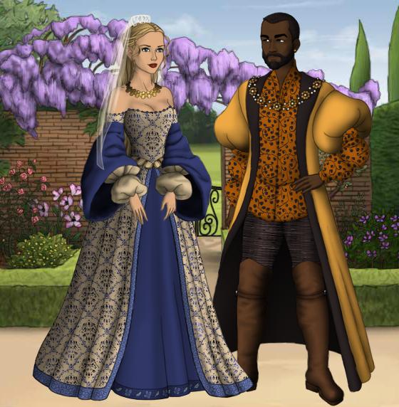 Othello and Desdemona by SingerofIceandFireOthello And Desdemona Art