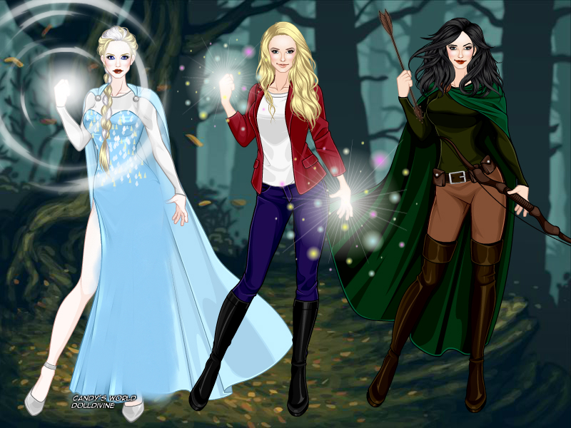 Elsa, Emma and Snow by SingerofIceandFire