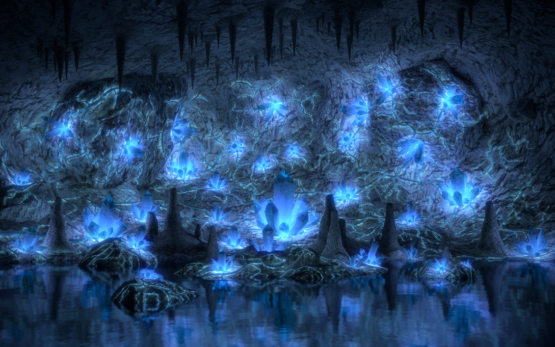 Water Crystal Cave Final By Shroomworks On Deviantart
