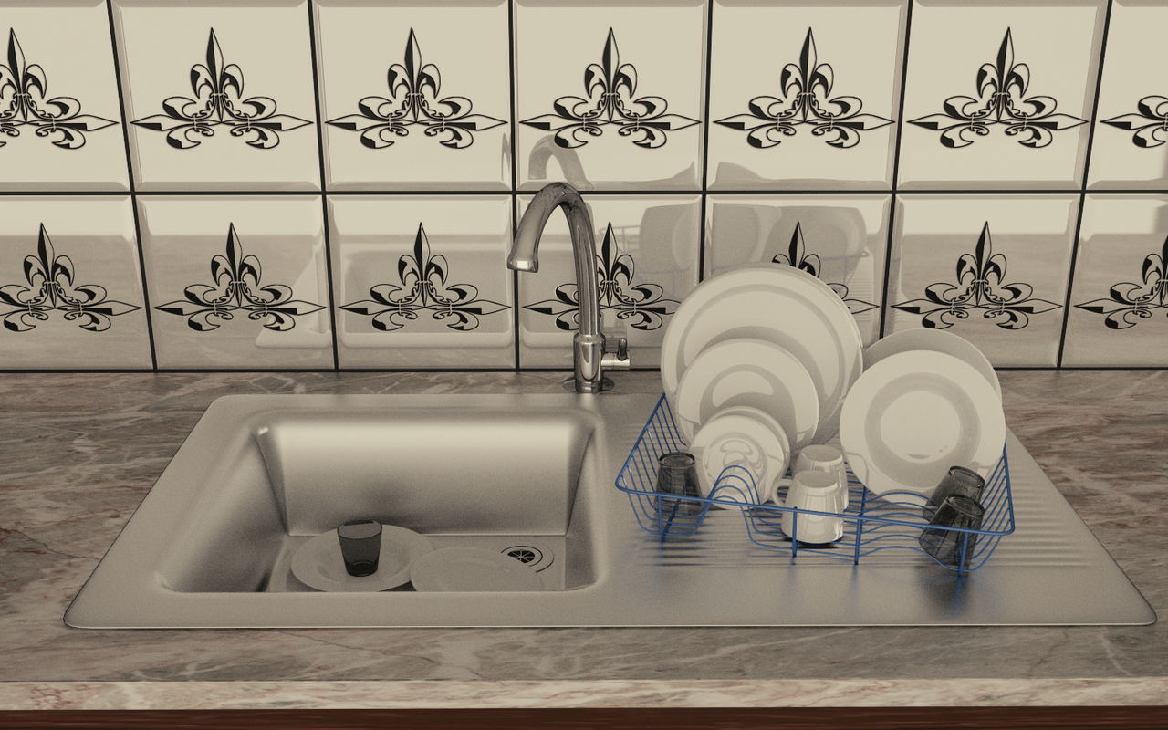Kitchen Scene - WIP 4 by Shroomworks