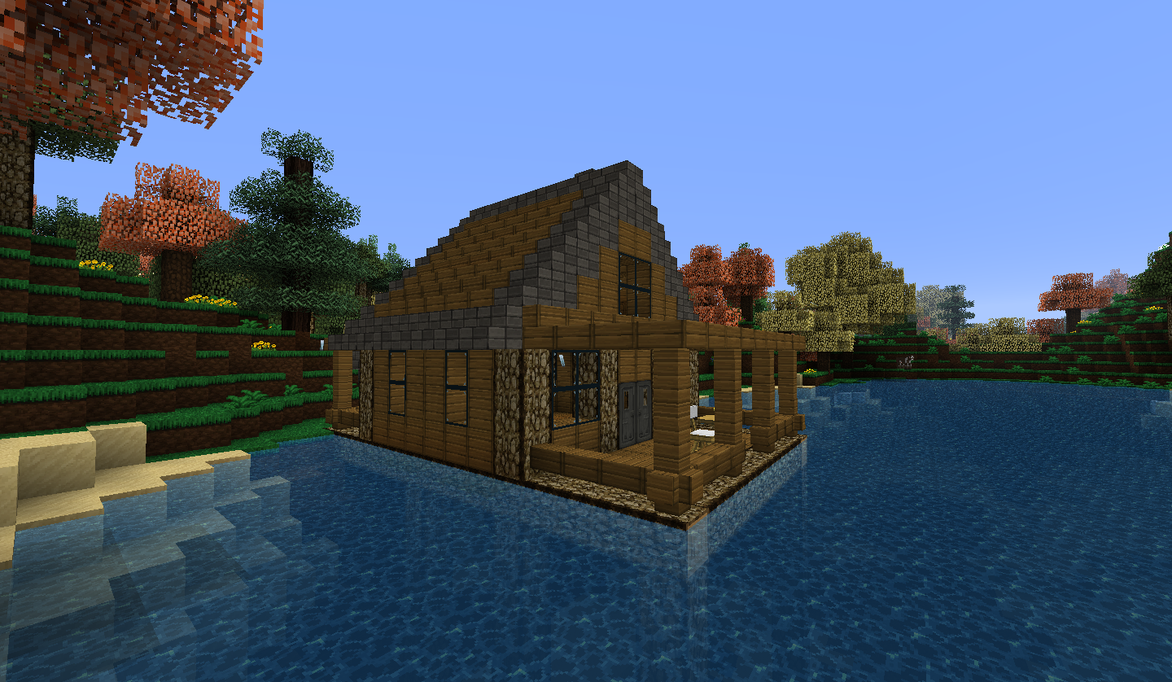 Minecraft - Lakeside Cabin Day Shot by Shroomworks on ...