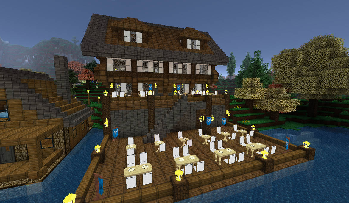 Minecraft Lakeside Inn Back View By Shroomworks On Deviantart