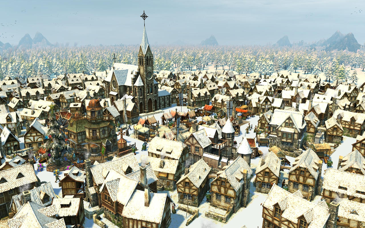 Anno 1404 - Winter Town 4 by Shroomworks on DeviantArt