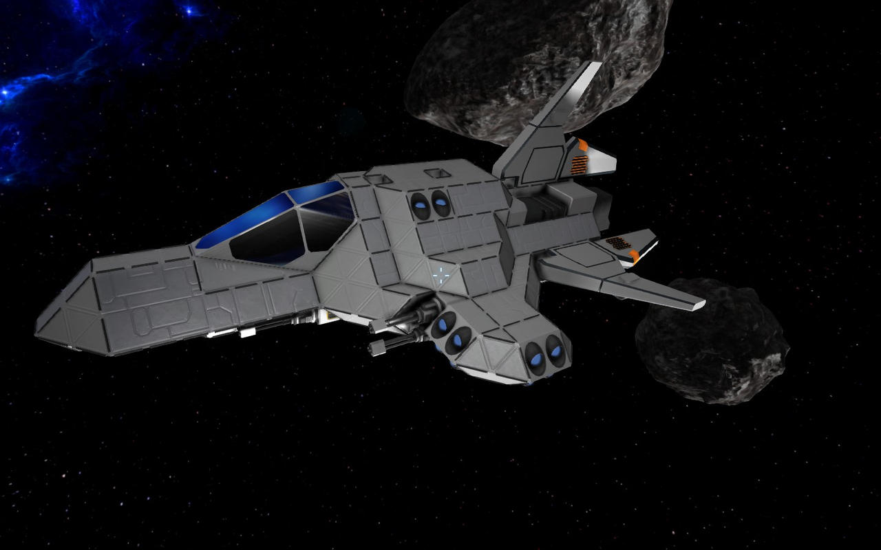 Space engineers small fighter by shroomworks on deviantart