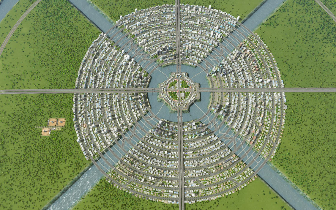 Cities skylines circular city by shroomworks on deviantart The best layout