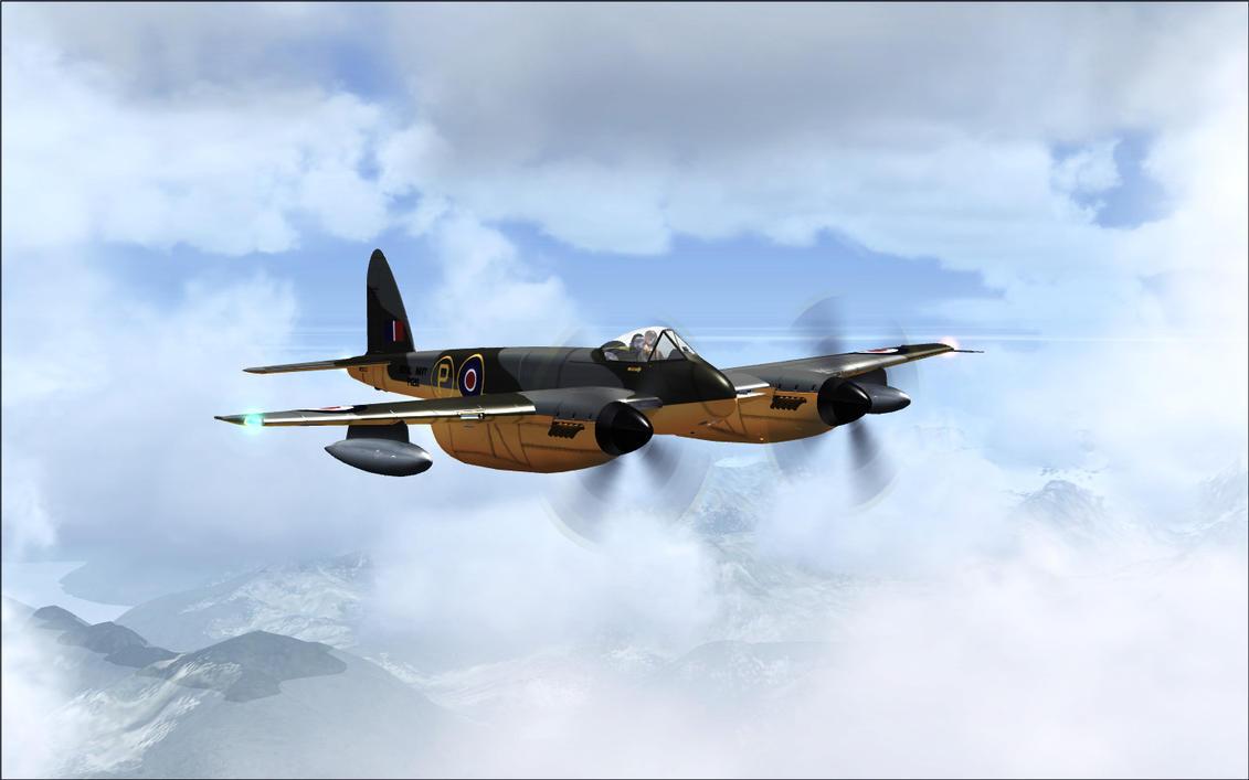 FSX - de Havilland DH.103 Sea Hornet by Shroomworks on ...