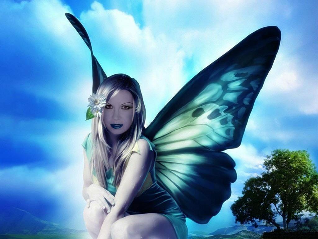 Blue Butterfly by RebeKahsOwnPlace