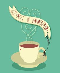 Vector Book Cover: Alice in Wonderland