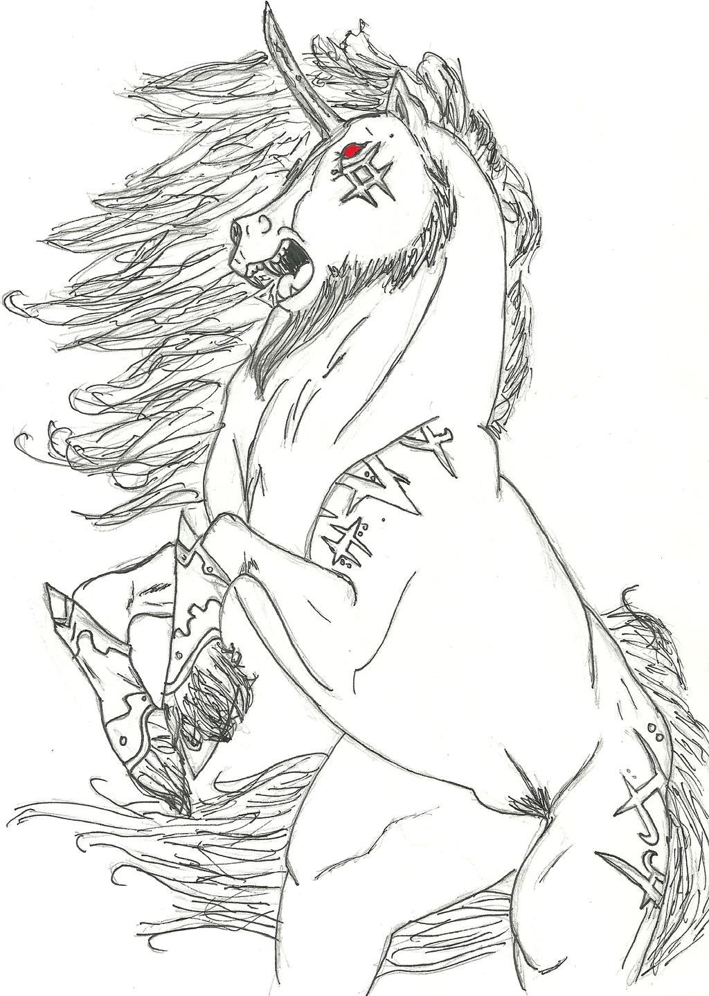 evil unicorn idk by shadow9635 on deviantart