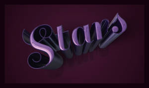 Metallic 3D Text Effect by StarlightSophie