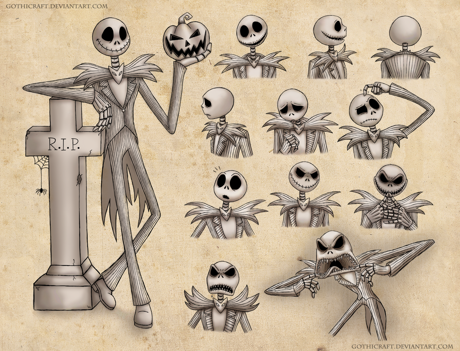 Jack Skellington Sketches By Gothicraft On Deviantart