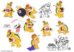 Bowser Jr doodles