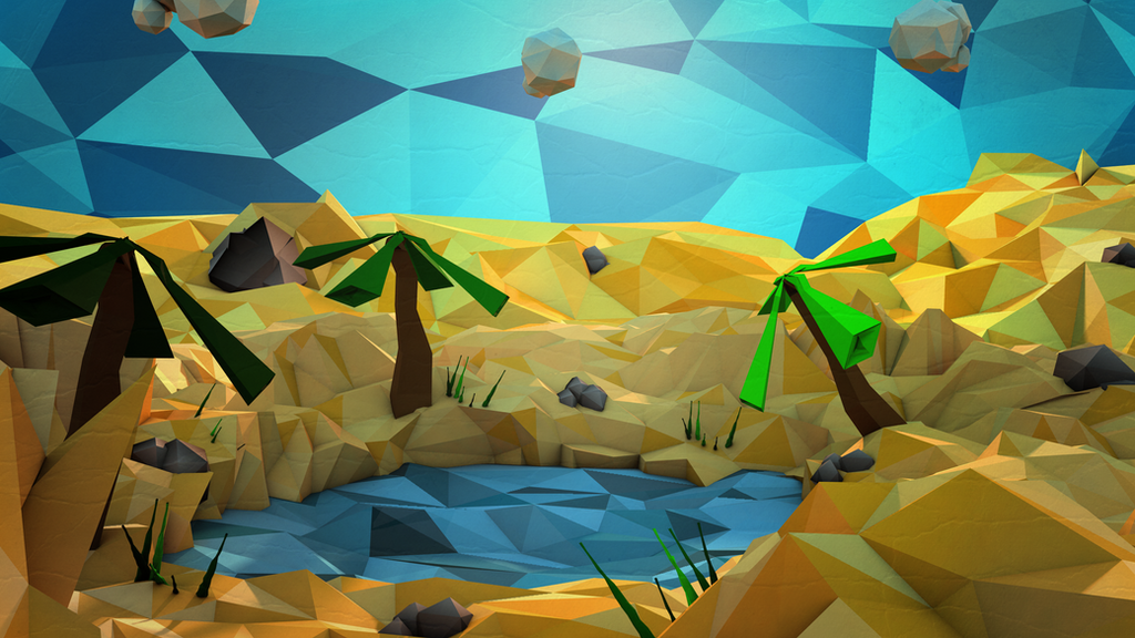 Third Low Poly Art Pubg: Low Poly Oasis By Jarargon On DeviantArt