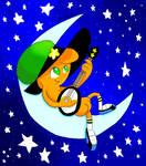 Wander sitting on a Moon