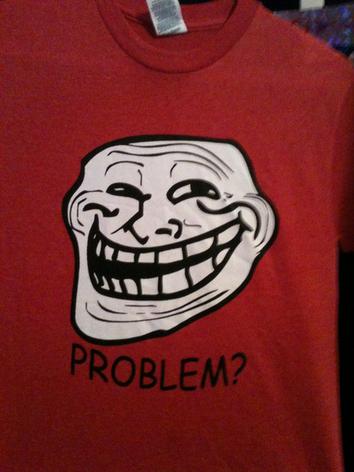 troll face shirt by killer-Puppets