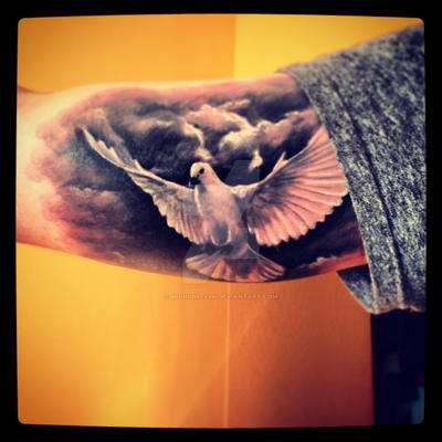 Dove tattoo by midnightsvk on deviantart for Soap for new tattoo