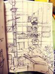 NY Bryant Park Sharpie-Sketch