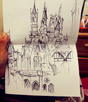 S h a r p i e  Sketch : Disney Castle by MemorySoul