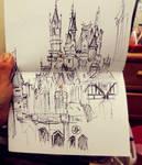 S h a r p i e  Sketch : Disney Castle