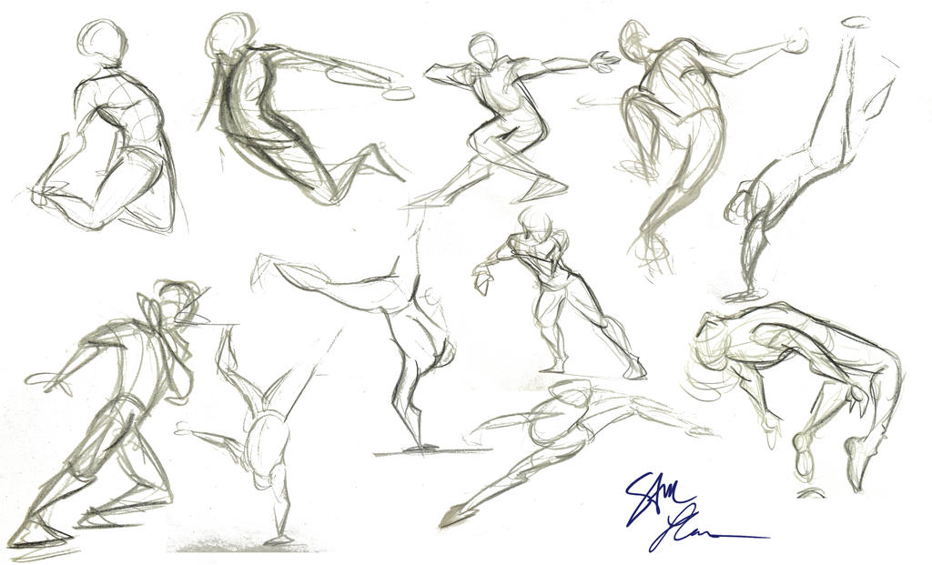 Action Poses 1 by MemorySoul on DeviantArt