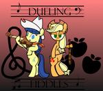 Applejack and Fiddlesticks- Dueling Fiddles